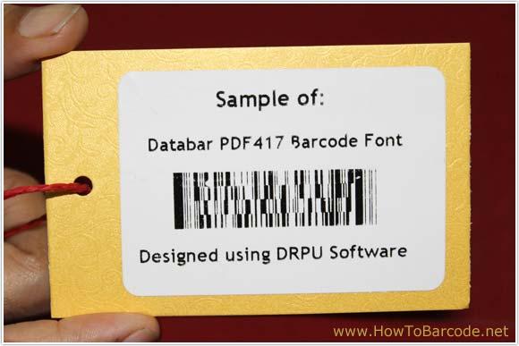 Generate Databar PDF417 2D Barcode font – HowToBarcode